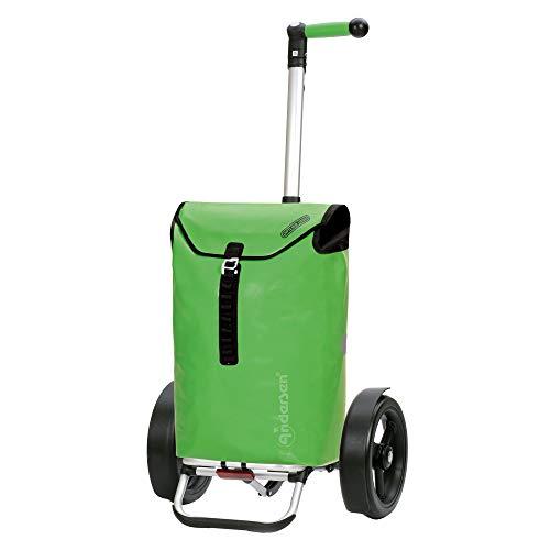 Andersen Shopper Tura Alu klappbar mit Kugellagerrad Ø 29cm und 49 Liter Tasche Ortlieb grün
