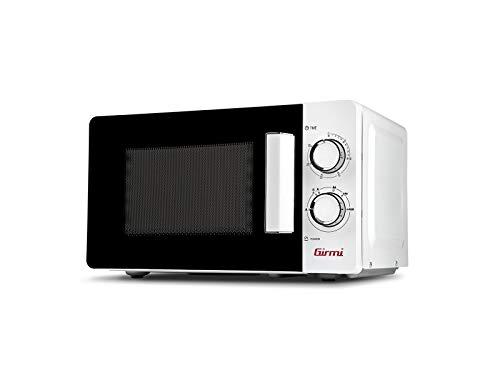 Girmi FM03 Forno a microonde, 1100 W, 20 Litri, Acciaio, Bianco