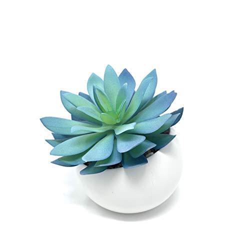Werandah Artificial Succulent Plant in Mini Pot Unique Echeveria Faux Plant...