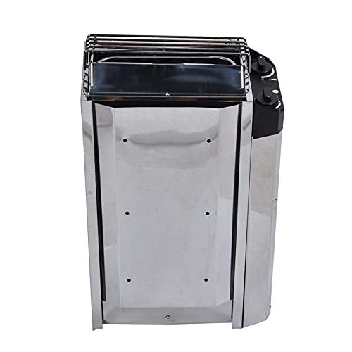 Calentador de sauna, 3.6kw Acero inoxidable Tipo de control interno Estufa de sauna con alambre calefactor de níquel-cromo, Alta eficiencia de calefacción Baño de vapor seco para sala de sauna Spa