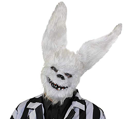 I LOVE FANCY DRESS LTD 12 MASCARILLAS para Adultos DE Conejo Blanco DE Horror con Detalles Y Pelo Accesorios Disfraces DE Halloween