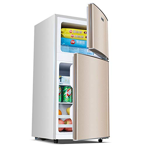 YKHOME Upright Freestanding White A+ - Congelador (Vertical, Independiente, Color Blanco, 118 L, 38 Db),Oro