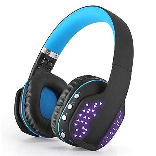 Headset bluetooth headset, gaming headset met noise cancelling-microfoon voor PS4, Nintendo Switch, Xbox One, pc-blauw