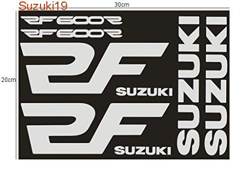 SUPERSTICKI Suzuki RF600r sponsorset 123 ca 30 cm motorfiets bike motorcycle sticker bike auto racing tuning van high-performance folie sticker autosticker tuningsticker high-performance folie