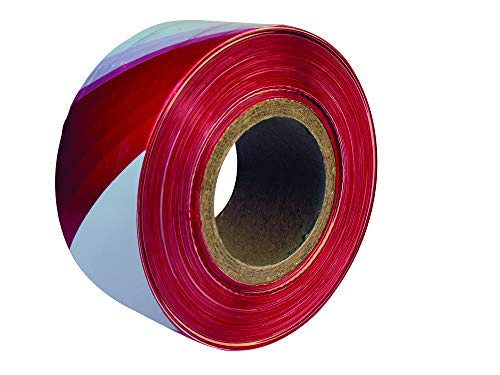 Everbuild EVB2BARRD500 - Cinta de balizamiento (72 mm x 500 m), color rojo y blanco