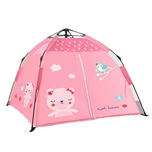 Opvouwbare Children's Indoor Toy House, Outdoor Camping Beach Anti-UV Play Tent, Boy Girl Baby Kids verjaardagscadeaus, Christmas Present,Pink