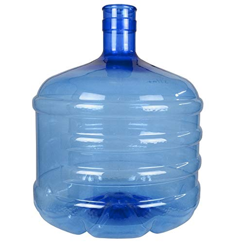 Botellón de 12 litros, para Agua. Compatible con Tapones de 5 galones. Apto para dispensadores de Agua. Color Azul. Libre de bisfenol-A