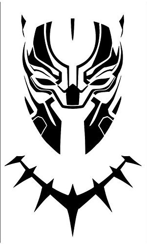 Yilooom Black Panther Masker Decal Vinyl Sticker|Auto's Trucks Vans Muren Laptop| Zwart |6.5 X 4.5 In