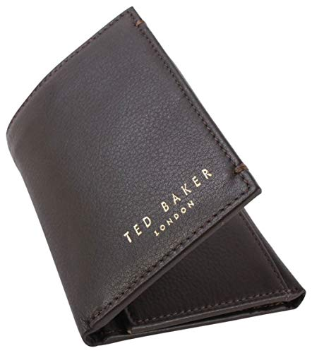 Ted Baker Jonnys Leather Card Portemonnee Chocolade Bruin