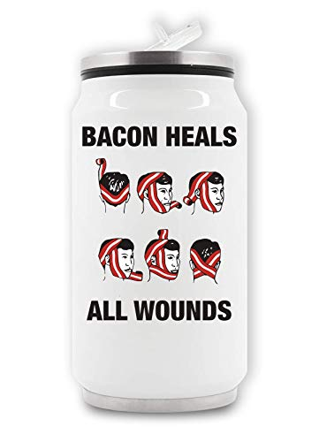 LukeTee Bacon Heals Wounds Thermische drankblik