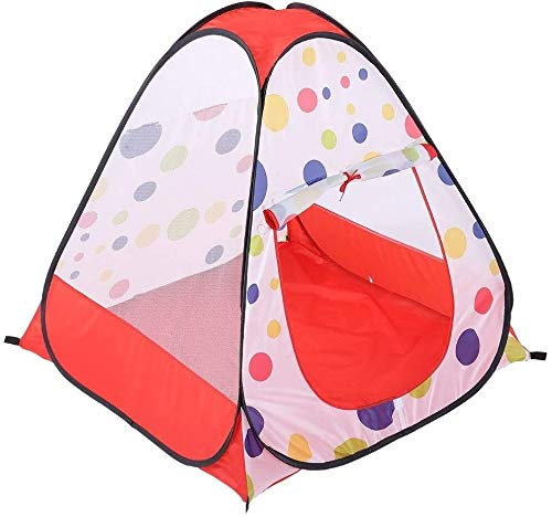 Schattig Zhoumei Daily Life Play Tent Children luchtdoorlatend Kamer inrichten Pop Up Tenten Kasteel Play Tent Dot Mesh Toy House Tent Princess Grote speelhuisje met draagtas (Kleur: C1, Size: 95x95x9