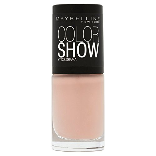 Maybelline New York Make-Up Nailpolish Color Show Nagellak/Ultra glanzende verflak in zacht bruin, 1 x 7 ml 7 ml 254 latte.