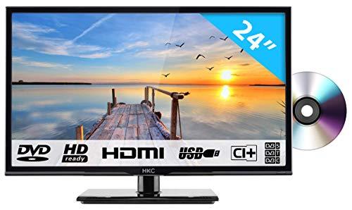 HKC 24C2NBD (24 Pollici) Televisore con lettore DVD integrato (HD Ready, Triple Tuner, CI+, HDMI, lettore multimediale via USB 2.0)