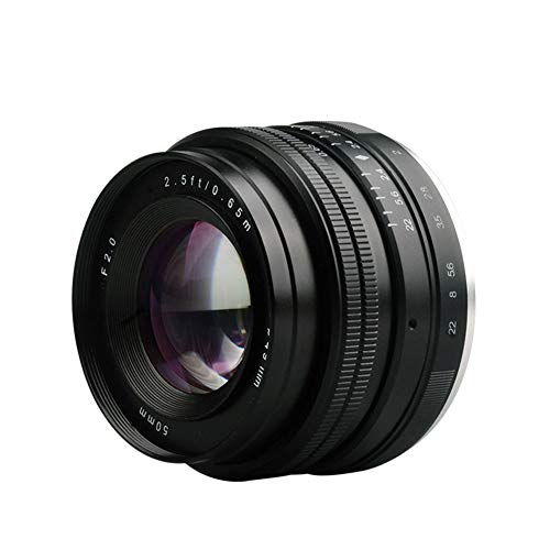 SSSabsir Meike MK-E-50mm-f/2.0 Large Aperture Manual Focus Lens APS-C for Sony E Mount