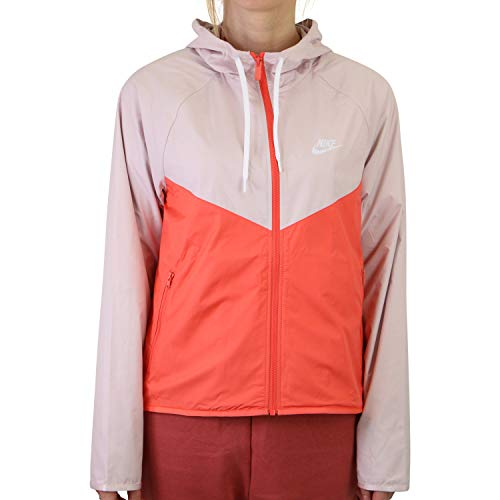 Nike dames Sportswear Windrunner jas, Barely Rose/Magic Ember/White, XL
