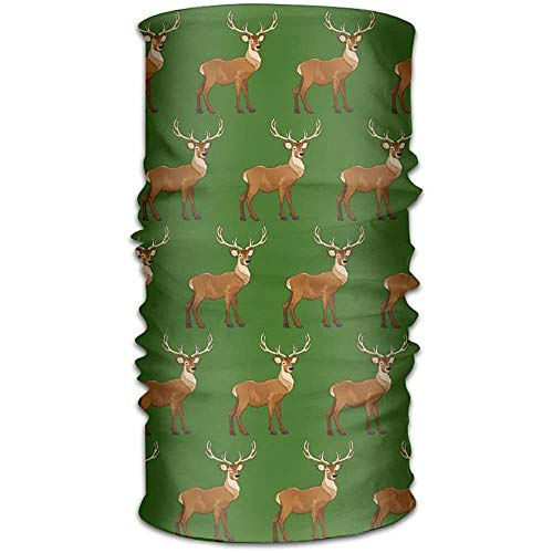Sport sweatband, Brown Reindeer Head Wrap, Fashion Head Wrap voor motorrijders
