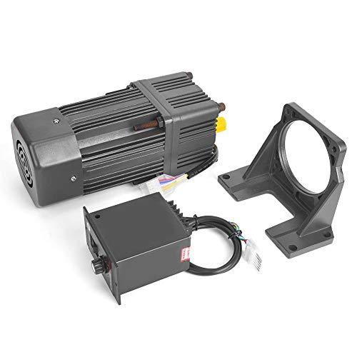 Zouminyy Motores reductores de engranajes, 220VAC 180W Motor Engranaje de reducción de velocidad ajustable de CW/CCW con caja de cambios gobernador(100K)