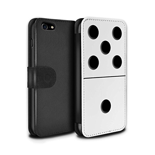 Stuff4 PU lederen hoesje/Cover/Portemonnee/IP-PSW/Dominoes/Dominos Collectie Apple iPhone SE 2020 Witte tegel 5/1