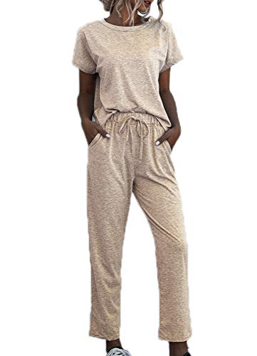 Dames Trainingspakken - 2-delige set Truien met korte mouwen en trainingsbroek Trainingspakken Loungewear Suit