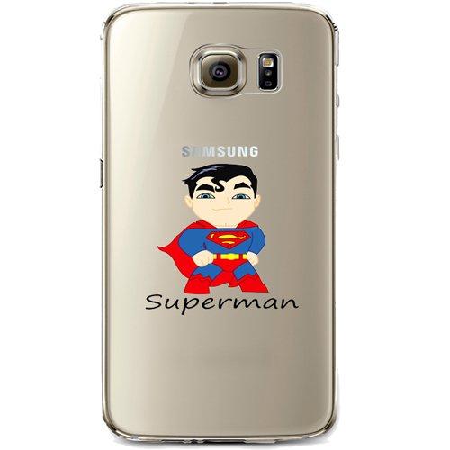 Batman, Catwoman, Harley Quinn, Wonder Woman, Superman, Spider Man, Hulk, Deadpool gelatina trasparente custodia per Samsung Galaxy S7Edge Superman