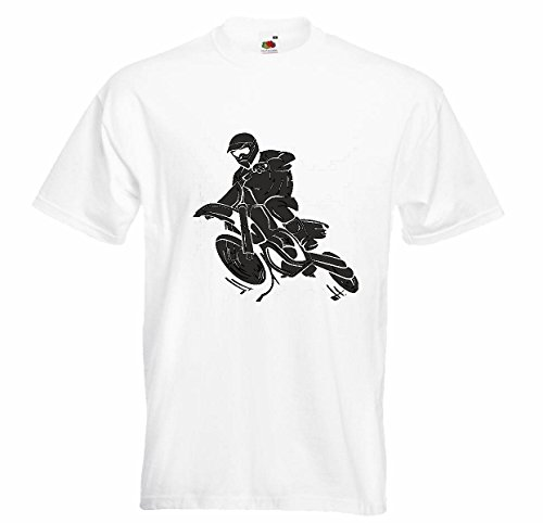 T-shirt Remera Motocross Silueta? 125 cc Motocross Freestyle Motocross motorkleding in wit