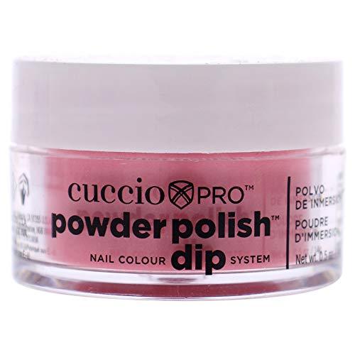 Cuccio watermeloen roze met roze mica nail kleur dip systeem duikpoeder