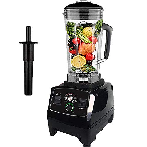 Smoothie Smart Blender, Multi-Function Smoothie Machine, High-Performance Snel Het Malen Van Ijs Met 10-Speed ​​Control, 2L Grote Capaciteit Ontwerp Geschikt Voor Het Maken Diverse Dranken Smoothies,Black