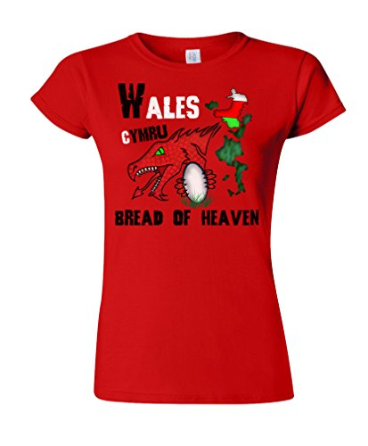 Tee Spirit Wales Rugby Ladies Camiseta para Mujer T-Shirt Six Nations Unisexo Fan Made