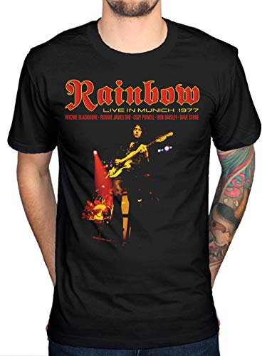 Rainbow Live In Munich T-shirt Engels Rock Band Ritchie Blackmore