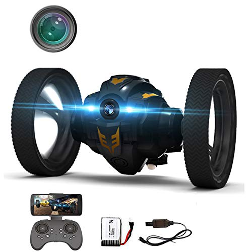 Vehículo Teledirigido,2.4Ghz Inalámbrico RC Bounce Car con Cámara HD De 500 W,2 Segundos De Rotación Y Luces Nocturnas LED Bounce RC Toy,para All Gift for Kids