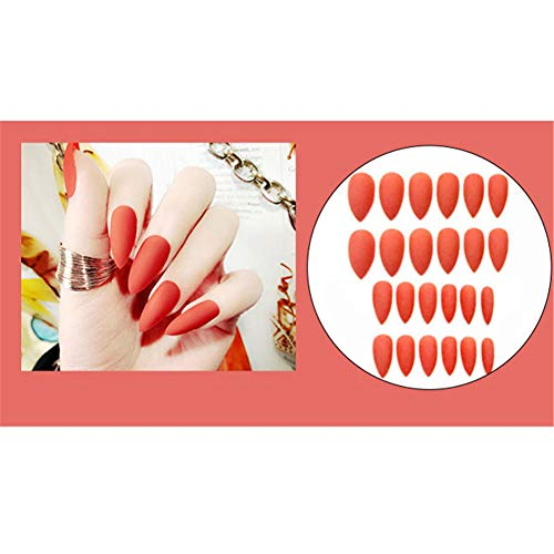 Kunstnagels 24 Stuks + Jelly Gel + Nail Art Gadgets 4 Stuks, Bruids Mode Flash Nagels, Jelly Gel Nep Nagels (L15)