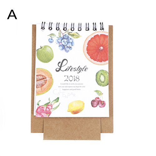 Beste kwaliteit - Calendar - set hot 2018 lovely cute little fresh cartoon dieren serie mini tafel kalendars desk office kalender 2017,9~2018.12 - by Rocco - 1 pc 1