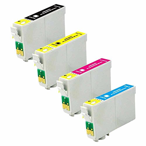 C63® - 4 x Epson WF 3520 inktcartridges [met CHIP] - Multipack. Volledige set, Epson compatibele printerinktcartridges voor Epson Workforce Printer WF-3010DW WF-3520DWF WF-3530DTWF