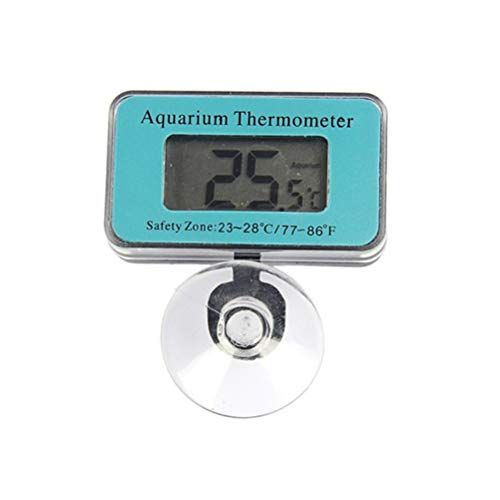 Kylewo Digitale thermometer met zuignap, aquarium thermometer, waterdicht, digitaal, LCD-display