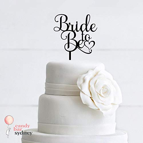 Bride To Be Bridal Shower Cake Topper - Wedding Cake Toppers - Rose Gold Cake Toppers