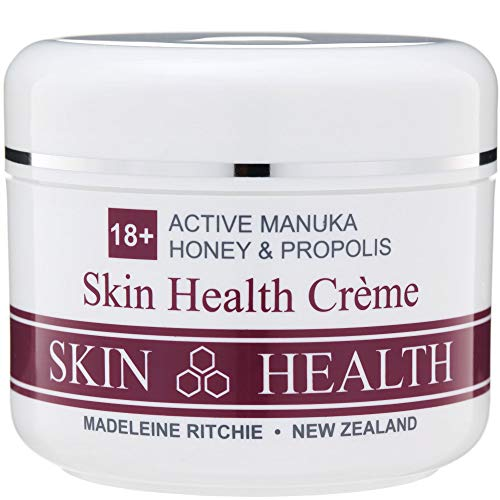 Madeleine Ritchie New Zealand 18+ Active Manuka Honey & Propolis Skin Health Cream for healing of persistent skin problems 200ml Excellent for Eczema, Psoriasis, Dermatitis, Acne and Dry Skin.