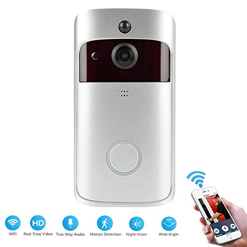 Video deurbel Wi-Fi Smart Draadloze Ring Deurbel 720P HD Real-Time Home Security Camera met PIR Montie Detectie Nachtzicht Twee-weg Audio