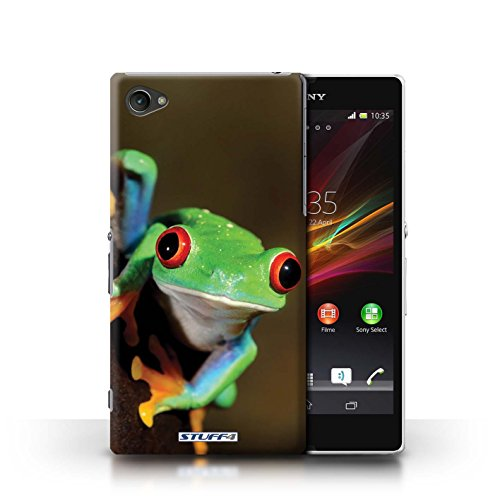 Stuff4® Kobalt® bedrukte case voor HTC1S | Wildlife Collection Sony Xperia Z1 Compact Kikker