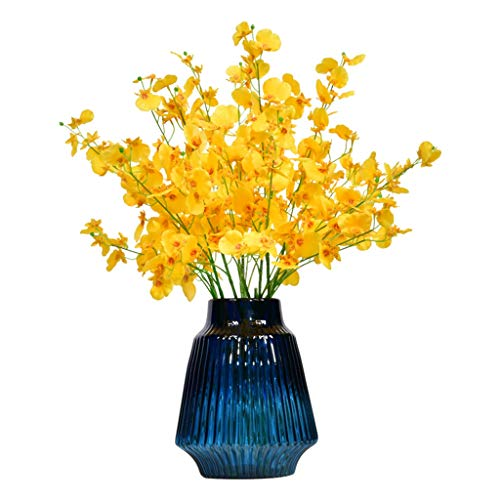 10 Bundels Gele Narcissen Kunstbloemen with Vase Fake Planten Arrangement for Partij van het Huis en Wedding Decor