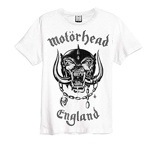 Amplified - Motörhead heren T-shirt - Engeland Logo (wit) (S-XL)