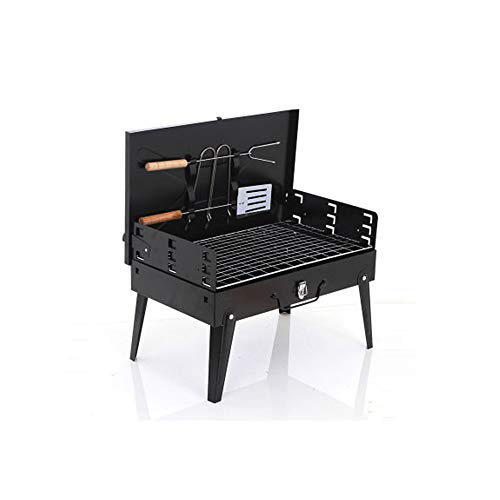 Koffer Barbecue Grill Tool Set, 5-7 Mensen Portable Folding Big Size Bbq Grill, voor Home Outdoor Garden Camping Picknicken Koken