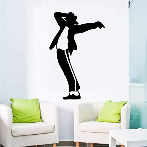 Muziek Danser Patroon Muursticker Art Design Woondecoratie Vinyl Muurschildering King of Pop Music Cool Room Decoration 102x102cm