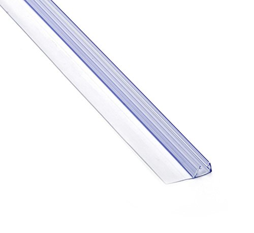Douchescherm deurafdichting siliconen flexibele strip PS008 for 6-8mm 90cm