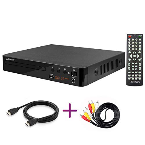 LP-099 Reproductor de DVD (Full HD, HDMI, USB, Multi Region Code Zone Gratis) compatible con DIVX, JPEG y MP3