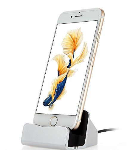 Xixihaha para iPhone Cargador Base y Soporte de sincronización Cargador Base de Carga Cradle Station para Apple iPhone 5 / 5s / 5c / SE / 6/6 Plus / 6s / 6s Plus / 7/7 Plus / 8 / 8Plus / X (Astilla)