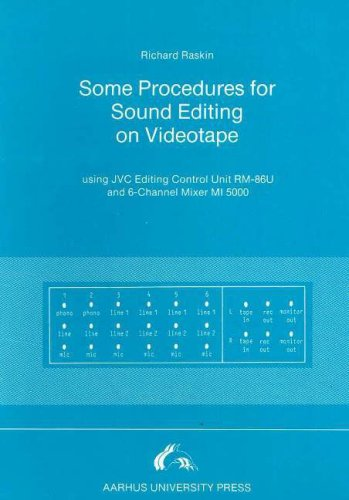 Some Procedures for Sound Editing on Videotape: Using Jvc Editing Control Unit RM-86U and 6-Channel Mixer MI 5000