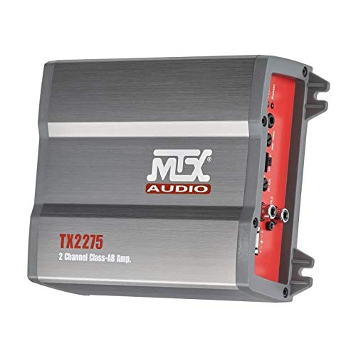 MTX versterker tx2275 2 x 110 W rms @2? Of 1 x 220 W Rms @4? Classe-AB actief filter variabele ingangen High Level