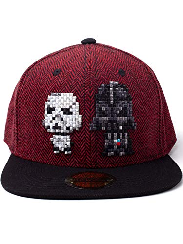 Star Wars Cap Pixel Darth Vader & Stormtrooper Snapback Red