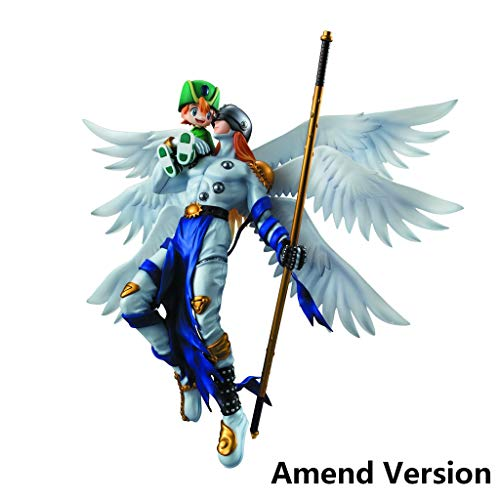 Lilongjiao Digimon Adventure: Angemon y Takeru Figura PVC - Alto 8,66 Pulgadas