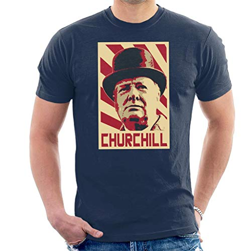 Winston Churchill Retro Propaganda T-shirt voor heren